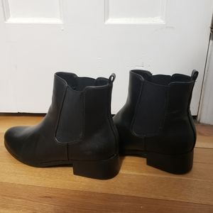 Lane Bryant Black Leather Booties